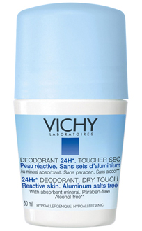 Vichy 24 hr Roll-On Dry Touch Deodorant (vichyusa.com, $17)