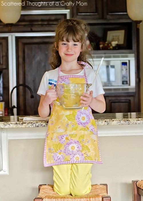 Floral DIY apron