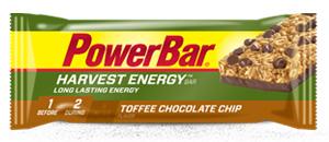 PowerBar Harvest Energy Bars Toffee Chocolate Chip