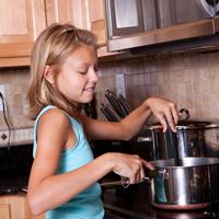Tween cooking on stove