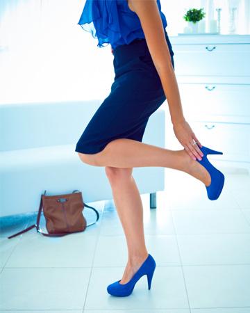 High heels causing foot problems