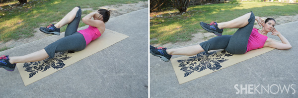 Bicycles/Alternating crunches | SheKnows.com