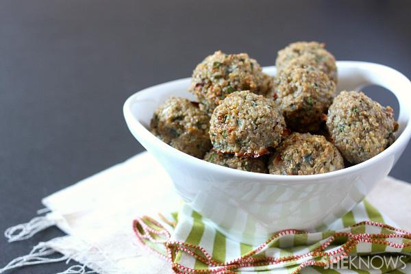 Baked turkey quinoa meatballs