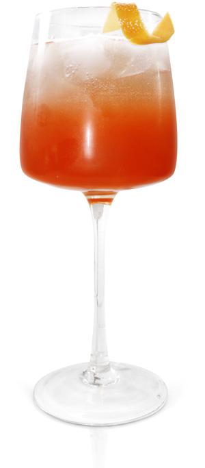 Effen black cherry glamour cocktail