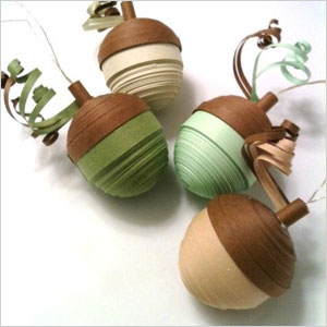 Paper acorn ornaments | Sheknows.ca