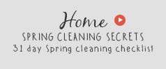 Spring cleaning secrets