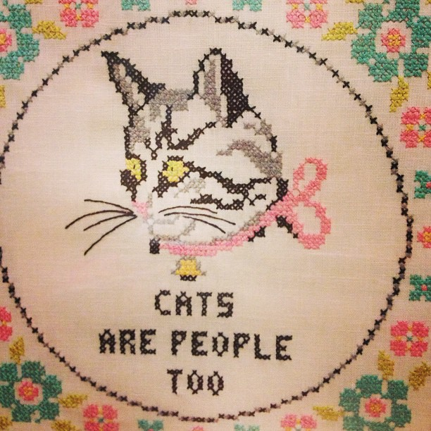 cat needle point