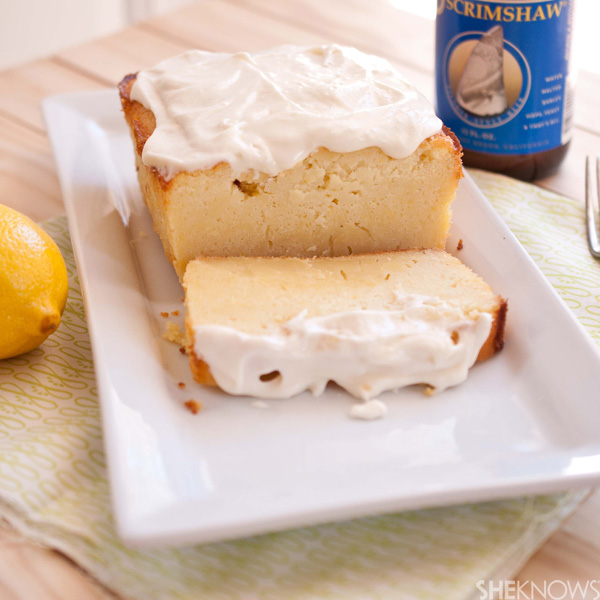 Lemon beer loaf cake