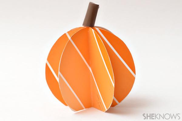 3D paint chip pumpkin