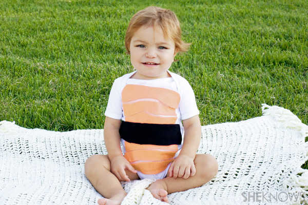 DIY sushi Halloween costume for babies