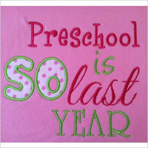 Preschool shirt