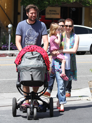 Alyson Hannigan and family