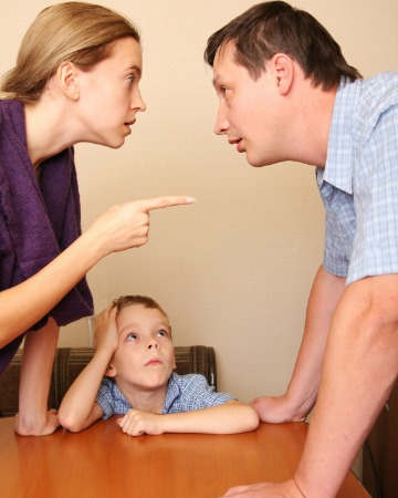 Parents arguing