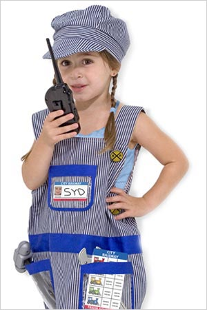 Train engineer - Halloween costume for girls