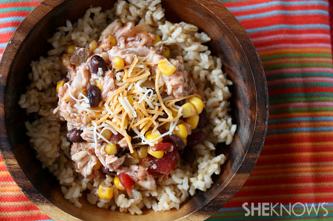 mexican chicken chili over rice