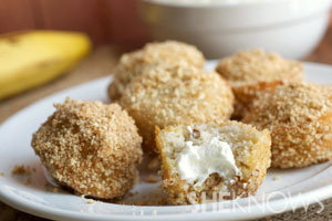Banana cream pie donut holes