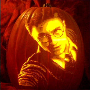 30 celebrities turned jack o 39 lantern for Harry potter pumpkin carving templates