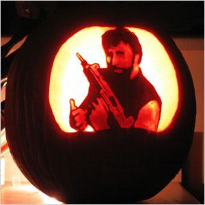 Chuck Norris pumpkin