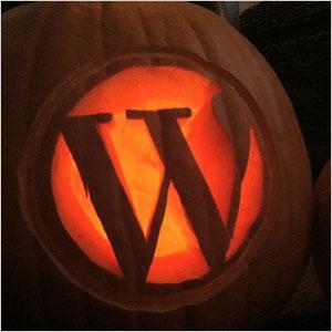 Blogging pumpkin