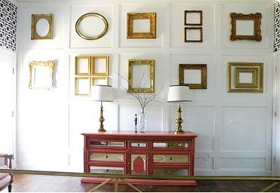 Golden decor rocks