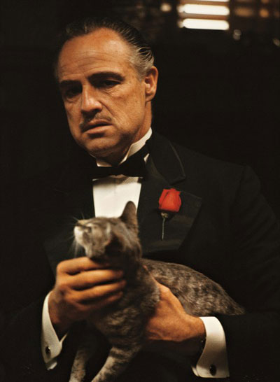 Vito Corleone and Cannoli