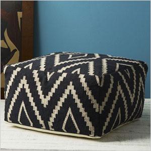 Kite kilim floor pouf
