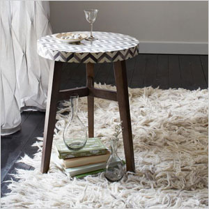 Chevron bone side table