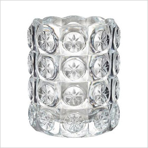 Clear glass tea light holder