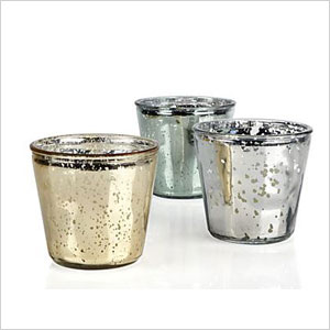 Oversize metallic votive cups