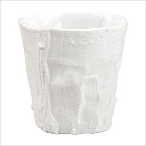 White porcelain candle holders
