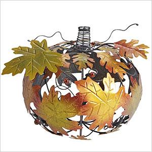 Metal leafed pumpkin