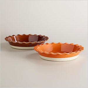 Ruffled pie dishes