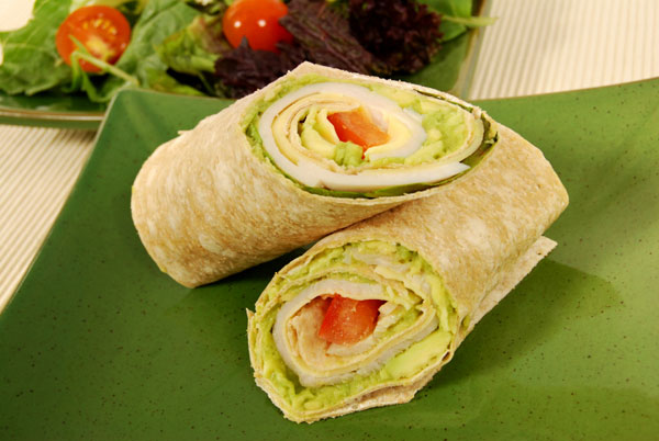 Quick and easy chicken wraps