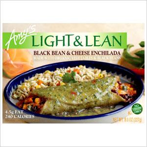 Amy's Light & Lean Black Bean Enchiladas