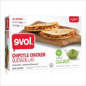 EVOL Chipotle Chicken Quesadillas