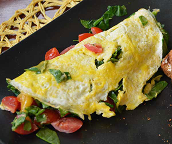 Egg and spinach omelet