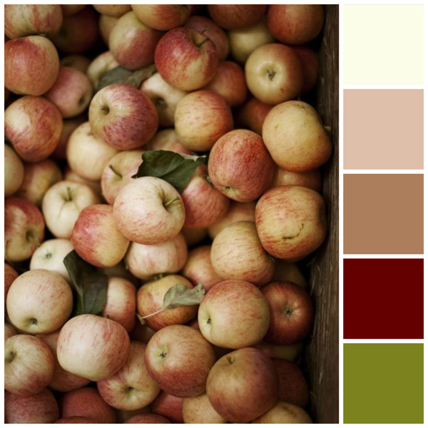 Fall color palette: Apple colors