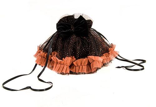 Black and orange treat bag