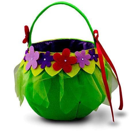 Tinker Bell trick-or-treat basket