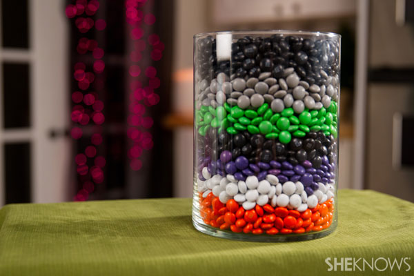Decorate with harvest M&M's