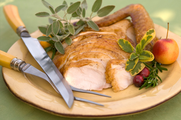 Herbed roasted turkey breast