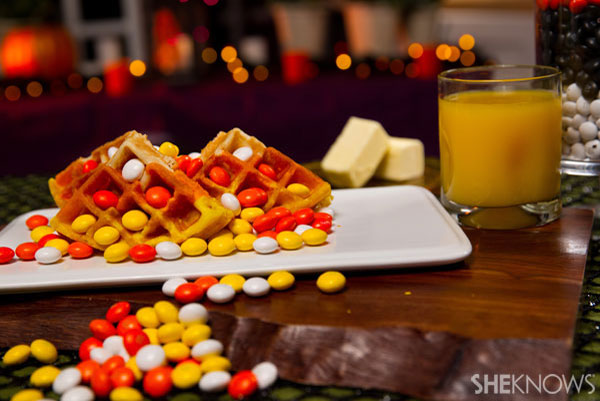 Candy Corn Waffles: Step 4