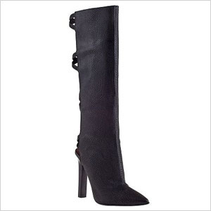 Jeff Campbell black knee high boots