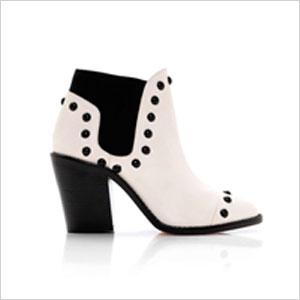 White Loeffler Randall boot