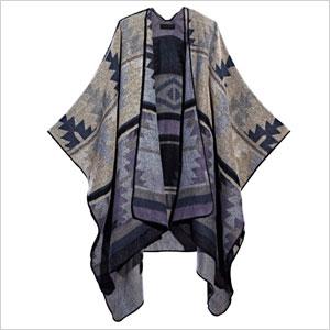 Navajo cardigan cape