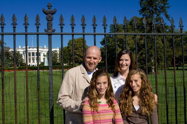 Family visiting Washington, D.C.