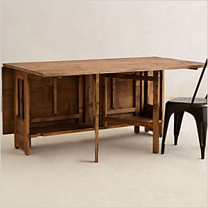 Anthropologie pine table