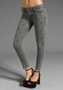 Jessica Alba's star-print jeans