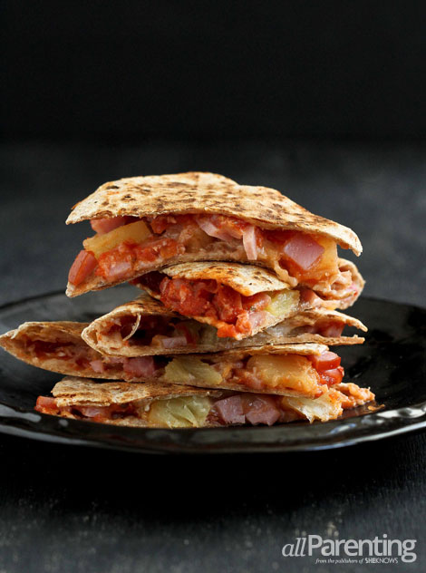 allParenting Hawaiian pizza quesadilla vertical