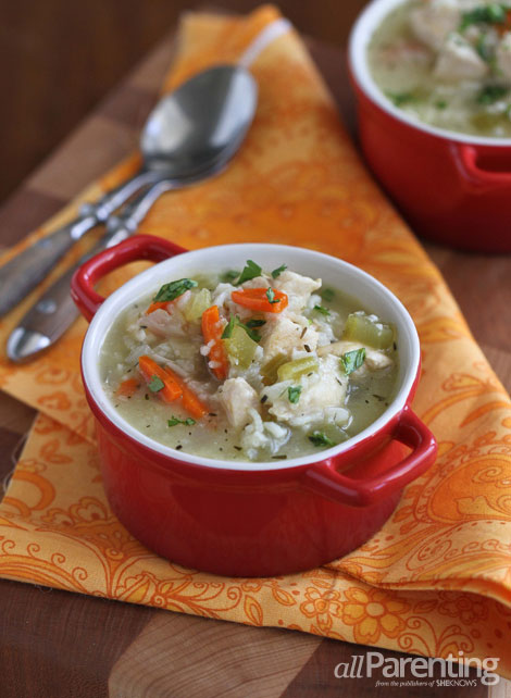 allParenting slow cooker chicken and rice soup